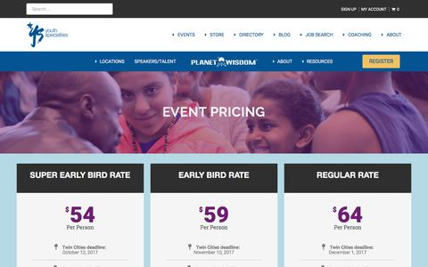 Screenshot of Pricing Page youthspecialties.com - Pricing - PlanetWisdom - captured Jan. 26, 2018