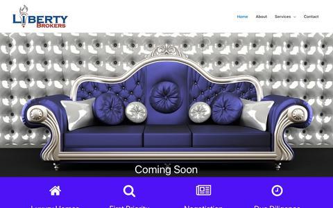 Screenshot of Home Page libertybrokers.com - Liberty Brokers - Atlanta's Premier Real Estate Agents - captured Sept. 28, 2018