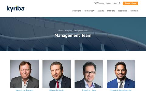 Screenshot of Team Page kyriba.com - Kyriba's Management Team | Learn More About Kyriba Management - captured March 30, 2018