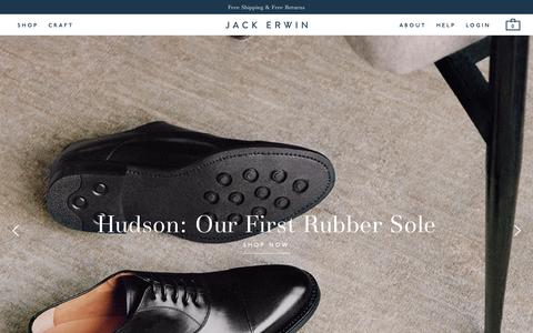Screenshot of Home Page jackerwin.com - A New Approach To Men's Shoes    – Jack Erwin - captured Sept. 17, 2015