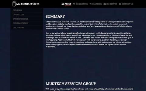 Screenshot of About Page mudtechservices.com - About | MudTech Services - captured Oct. 26, 2014
