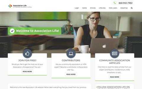 Screenshot of Home Page association-life.com - Welcome to Association Life! - Association Life - captured Nov. 6, 2018