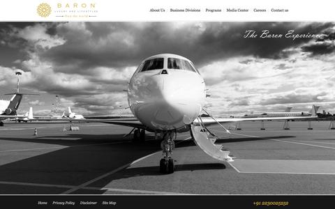 Screenshot of Home Page barongroup.in - Baron Luxury and Lifestyles | Own the world - captured Feb. 7, 2016