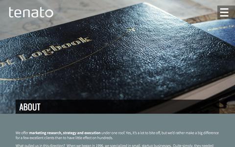 Screenshot of About Page tenato.com - Calgary Marketing Company | Tenato Strategy Inc. - captured June 27, 2018