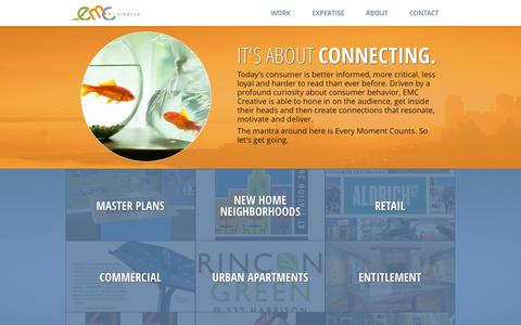 Screenshot of Home Page emccreative.com - EMC Creative - captured Sept. 26, 2014