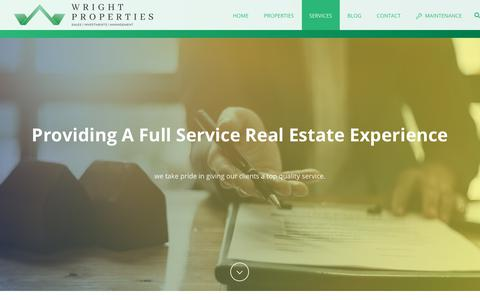 Screenshot of Services Page wrightprop.com - Services - Wright Properties - captured Oct. 19, 2018
