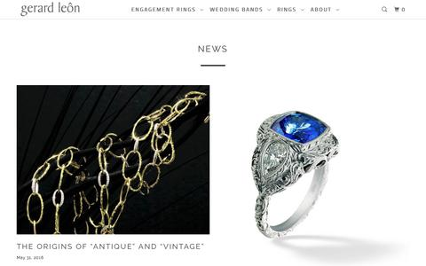 Screenshot of Press Page gerardleon.com - News - Gerard Leon - captured July 30, 2017