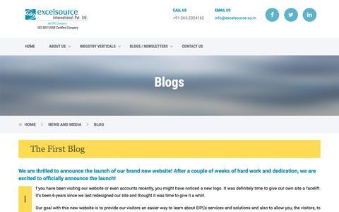Screenshot of Blog excelsource.co.in captured Nov. 11, 2018