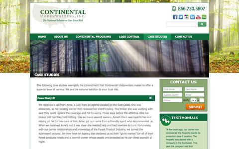 Screenshot of Case Studies Page contund.com - Contund Case Studies - captured Oct. 3, 2014