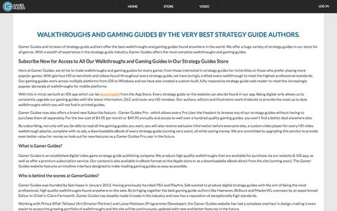 Screenshot of About Page gamerguides.com - About Gamer Guides - captured Oct. 26, 2015