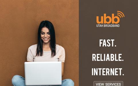 Screenshot of Home Page utahbroadband.com - Utah Broadband - captured June 22, 2019