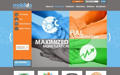 Screenshot of Developers Page mobilda.com - Mobilda.com - captured Nov. 3, 2014