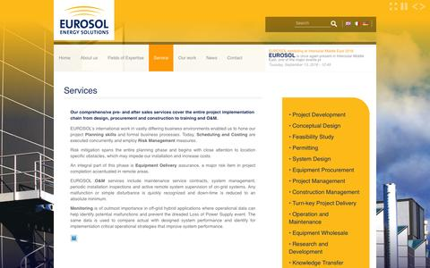 Screenshot of Services Page eurosol.eu - Services | eurosol.eu - captured Nov. 12, 2016