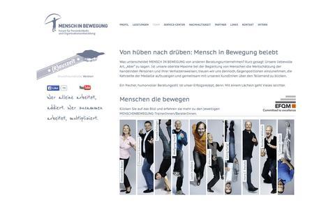 Screenshot of Team Page menschinbewegung.at - Mensch in Bewegung -Team - captured Sept. 30, 2014