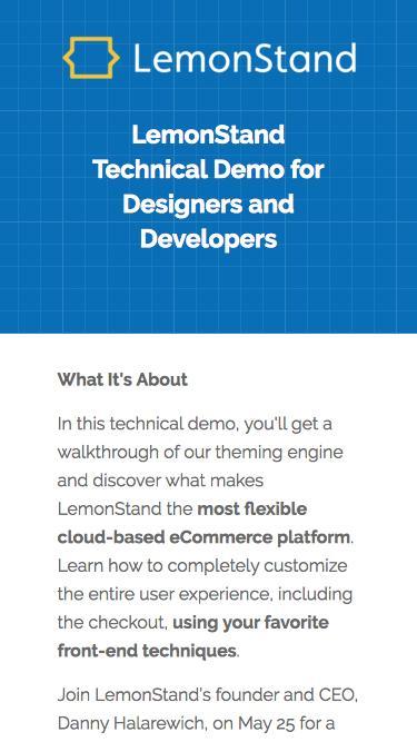 LemonStand Developer Demo: Tap into Unlimited Design Flexibility