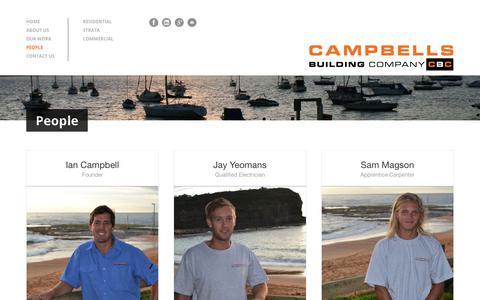 Screenshot of Team Page campbellsbuilding.com.au - People | Campbell's Building Company - captured Sept. 26, 2018