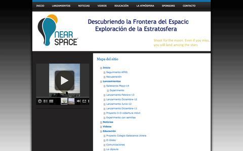Screenshot of Site Map Page nearspace.es - Investigación y Exploración de la Estratosfera - NearSpace. Descubriendo la frontera del Espacio - captured Oct. 7, 2014
