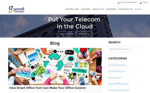 Screenshot of Blog press8.com - Blog · Press8 Telecom - captured Nov. 11, 2016