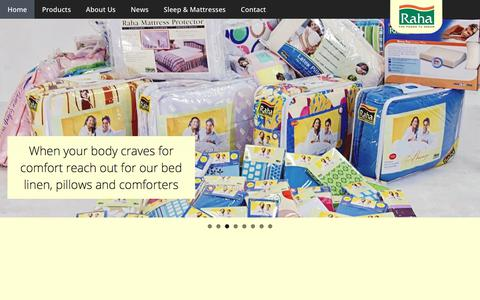 Screenshot of Home Page rahaoman.com - Furniture in Dubai, Best Place to Buy King and Queen Size Mattresses | Raha - captured Aug. 11, 2017