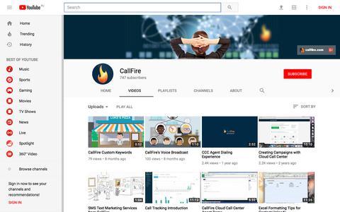 CallFire - YouTube - YouTube