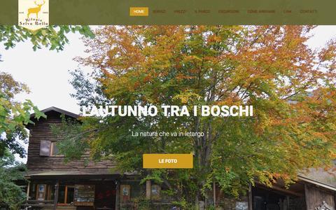 Screenshot of Home Page rifugioselvabella.it - Rifugio Selva Bella un angolo di paradiso nel parco nazionale d'Abruzzo - captured March 18, 2017