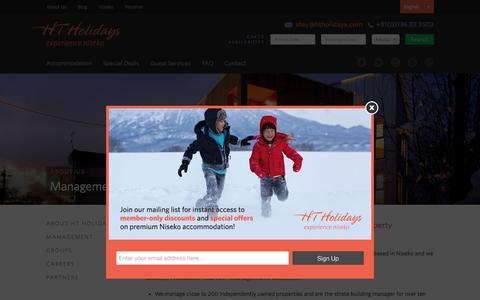 Screenshot of Team Page htholidays.com - Management — HT Holidays - captured July 10, 2016