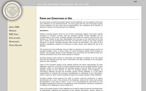 Screenshot of Terms Page eqc-worldwide.com - Terms and Conditions of Use - captured Oct. 3, 2014