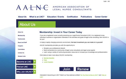 Screenshot of Signup Page aalnc.org - AALNC : Membership - captured Oct. 3, 2018