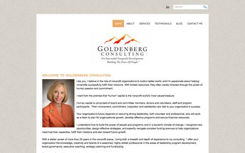 Screenshot of Home Page goldenbergconsulting.com - Goldenberg Consulting - Home - captured Oct. 1, 2014