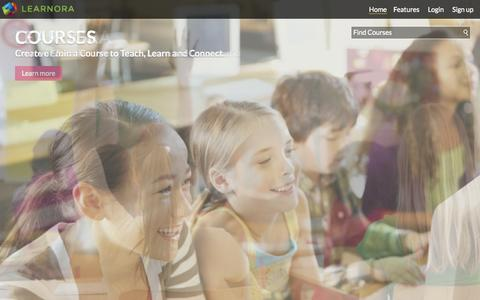 Screenshot of Home Page learnora.com - LEARNORA | Welcome to LEARNORA - captured Sept. 29, 2014