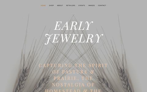 Screenshot of Home Page earlyjewelry.com - Early Jewelry - captured Jan. 17, 2015