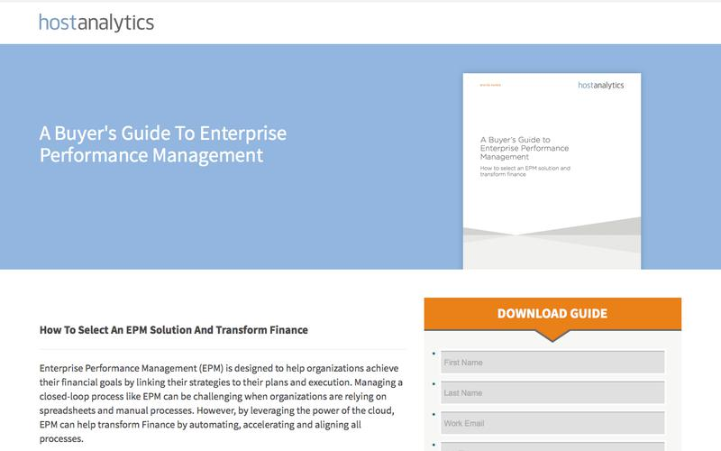 A Buyer's Guide To Enterprise Performance Management