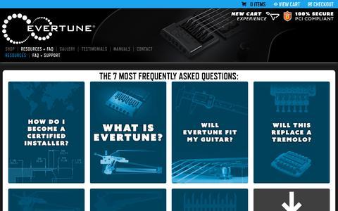 Screenshot of FAQ Page evertune.com - EVERTUNE • FAQ - captured Nov. 8, 2018