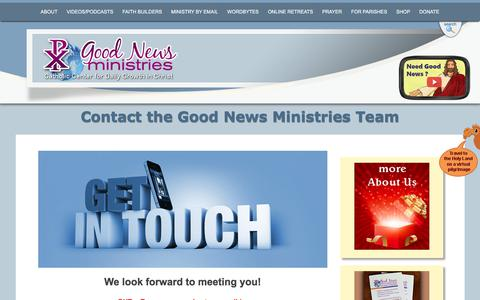 Screenshot of Contact Page gnm.org - Contact Us at Good News Ministries| Good News Ministries - captured July 17, 2017