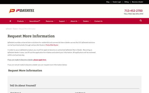 Request More Information - ipDatatel