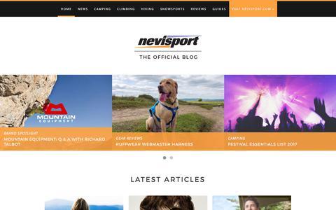 Screenshot of Blog nevisport.com - Official Nevisport Blog | The Latest Outdoor News & Reviews - captured June 12, 2017