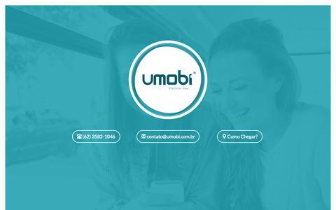Screenshot of Home Page umobi.com.br - Umobi - Soluções em Comunicação Digital - captured Aug. 16, 2015