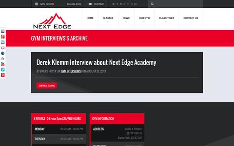 Screenshot of Testimonials Page nextedgeacademy.com - Gym Interviews Archives - Next Edge AcademyNext Edge Academy - captured Oct. 29, 2014
