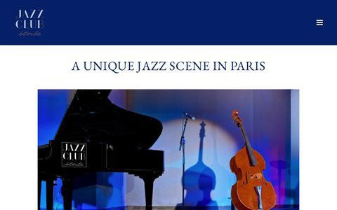 Screenshot of About Page jazzclub-paris.com - About the Jazz Club Etoile | Jazz Club in Paris | Le Méridien Etoile - captured March 14, 2018