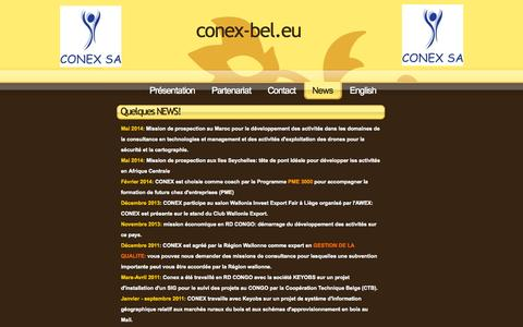 Screenshot of Press Page sitew.com - conex-bel.eu - News - captured Sept. 18, 2014
