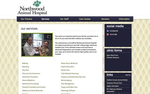 Screenshot of Services Page vetstreet.com captured Oct. 26, 2014