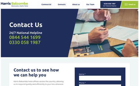 Screenshot of Locations Page harrisbalcombe.com - Contact Us | Harris Balcombe - captured Sept. 27, 2018