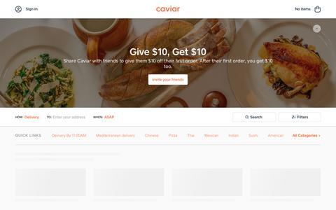 Food Delivery - Sacramento Restaurants | Caviar