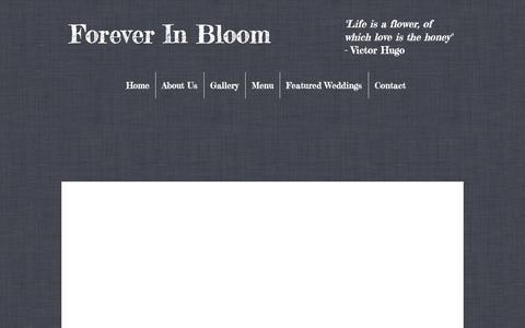 Screenshot of Menu Page foreverinbloomonline.com - Forever In Bloom, Floral Decorators, Mt. Kisco, NY 10549   Menu - captured Jan. 27, 2018