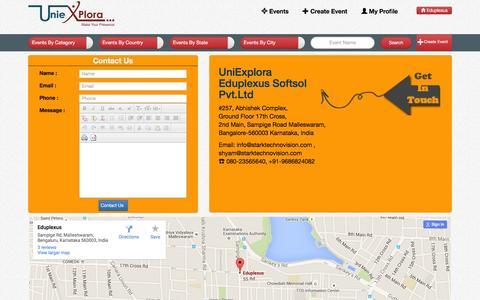 Screenshot of Contact Page eduplexus.com - Contact Us | UniExplora | Eduplexus - captured Dec. 7, 2015