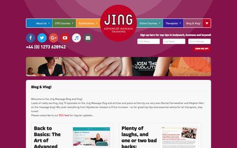 Screenshot of Blog jingmassage.com - Blog & Vlog! Archives - Jing Advanced Massage Training - captured Jan. 9, 2016