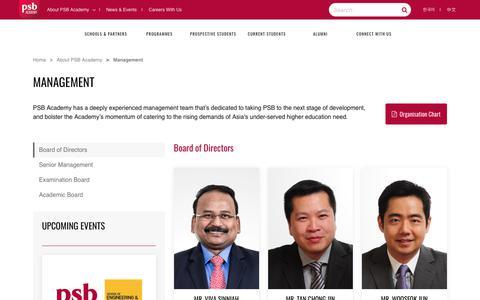 Screenshot of Team Page psb-academy.edu.sg - PSB Academy Singapore | Managements - captured July 15, 2018