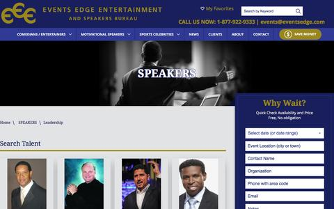 Screenshot of Team Page eventsedge.com - SPEAKERS - captured April 10, 2017