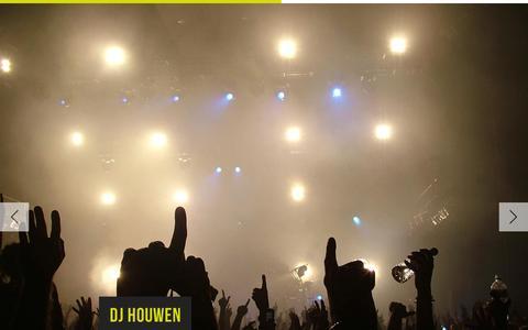 Screenshot of Home Page djhouwen.be - DJ Houwen - HouwEvents - Houselicious - captured Jan. 29, 2015
