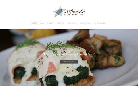 Screenshot of Home Page etoilecuisine.com - Étoile Cuisine et Bar - Home - captured Sept. 29, 2018